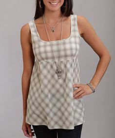 Take a look at this White Plaid Tank - Women by Mad for Plaid: Women's Apparel on #zulily today!