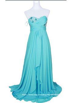 Empire Sweetheart Floor Length Chiffon Evening Dress