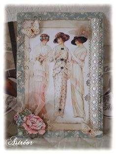 Scrapbooking Astréor -Carte vintage