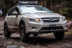 2013 Subaru XV Crosstrek - Brand: Subaru Model: CrosstrekYear: 2013Color: Kaki Modifications: Lift kit: LP Aventure Tires: 215/75R15 BFGoodrich All Terrain T/A KO2Wheels: Method Racing Wheels MR502 VTSpec 15x7 +15Cargo basket: Yakima Loadwarrior