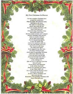 Christmas In Heaven Poem