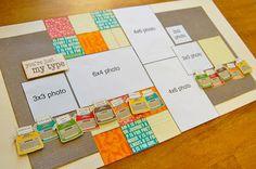 SCRAPBOOK GENERATION: Allison Davis sketch layout for Saturday...