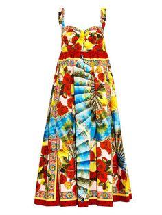 Dolce & Gabbana Multi-print cotton dress on shopstyle.com
