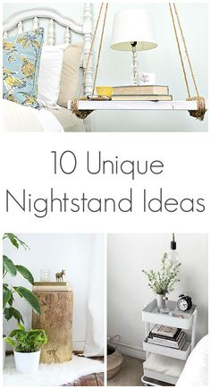 Ten Unique Nightstand Ideas – Loving these unique nightstand ideas. Sponsored Sponsored Ten Unique Nightstand Ideas – Loving these Cheap Nightstand, Nightstand Ideas, Floating Nightstand, Unique Nightstands, Unique Bedside Tables, Unique Home Decor, Diy Home Decor, Bedroom Night Stands, New Room