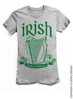 Irish Erin Go Bragh St. Patricks Day Sweater Gray by DentzDenim