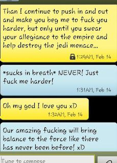 Awkwardly funny star wars sexting