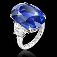 #Sabbadini #Jewelry #Sapphire and #Diamond #Ring #EngamentRing - #MadeInItaly #HandMadeJewelry #ViaMontenapoleone #Luxury