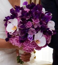 Purple Lavander white... the colors of my wedding day! love it!...