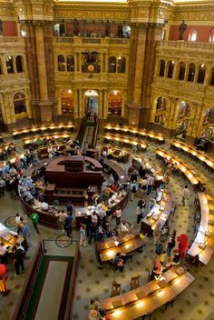 Library of Congress Reading Room in Washington, DC