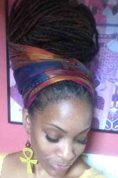 Beautifully Wrapped Locks!!!! Picture Says A Thousand Words!!!