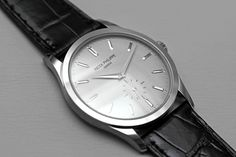 The purist Patek Philippe Calatrava in white gold