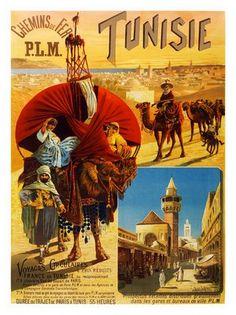 tunisia-travel-poster-1892 by nostalgicphotosandprints, via Flickr