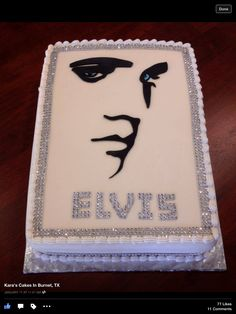 Elvis Cake. Made by, Kara's Cakes in Burnet, TX Elvis Cakes, Elvis Presley Cake, Gorgeous Cakes, Amazing Cakes, Elvis Presley's Birthday, Twins Cake, Birthday Cake Decorating, Just Cakes, Specialty Cakes