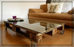 Build your own coffee table from a Europalette!