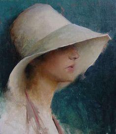 Lipking: Sheeri in Summer Hat w