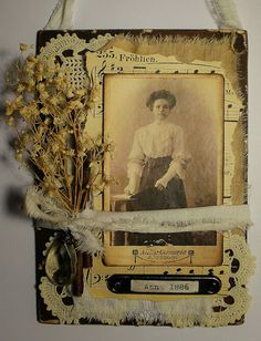 by Ana oude foto collage Mixed Media Collage, Collage Art, Photo Projects, Art Projects, Fabric Journals, Art Journals, Heritage Scrapbook Pages, Molduras Vintage, Paper Art