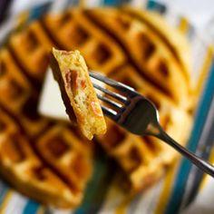 Prosciutto and Parmesan Waffle Recipe