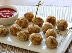 Baked Mini Spinach and Sausage Arancini | Skinnytaste