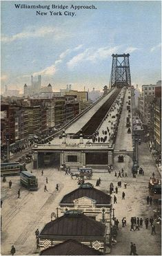 #TBThursday Williamsburg Bridge Approach, New York City. Bridge opened Dec. 19, 1903