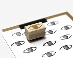 Eye Rubber Stamp by Worthwhile Paper