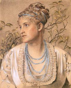 Frederick Sandys (English, 1829-1904). Portrait of Mary Sandys, 1871-73. Birmingham Museum and Art Gallery, UK