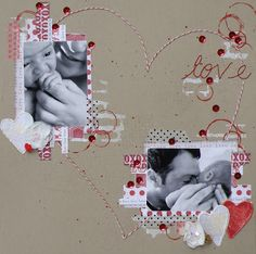 #papercraft #scrapbook #layout Scrapbooking LO by Alz