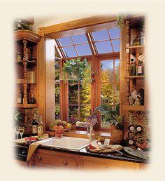 Photo of a Kitchen Wood Garden Window by Renaissance Conervatories