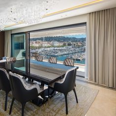 This luxurious apartment overlooking the port of Cannes, France takes sophisticated luxury to another level. Designed by Interior Design and Architecture studio COCHET / PAÏS it took over two years complete the interiors alone. Cannes France, Luxury Apartments, Online Furniture, Core, Windows, Interiors, Interior Design, Studio, Architecture