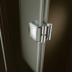 25 Designtrends: 360 Grad, Artweger.  Bewegungsfreiheit ermöglicht die neue, patentierte Pendeltür der Duschenserie Art- weger 360: Mittels eines Pendelscharniers lässt sich die Tür, die sich den Platzgege- benheiten optimal anpasst und nicht im Weg steht, um 360° drehen. Die tropfnasse Tür kann auch vollständig nach innen geklappt werden, wodurch der Fußboden außerhalb des Duschbereichs trocken bleibt.