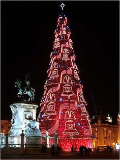 a maior arvore de Natal de Europa em Lisboa