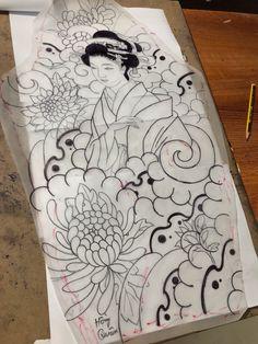 Irezumi Tattoos, 3d Tattoos, Pin Up Tattoos, Love Tattoos, Tattoo Drawings, Tattoo Japanese Style, Japanese Sleeve Tattoos, Lace Thigh Tattoos, Japan Tattoo Design