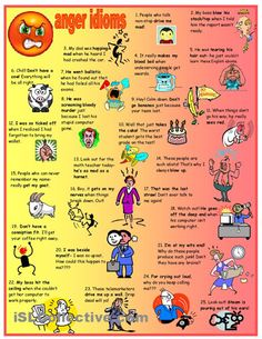 Anger idioms