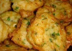 Salted Cod Fritters, or Pasteis De Bacalhau, are one of the most popular and traditional dishes in Portuguese cuisine. Potato Dishes, Fish Dishes, Potato Recipes, Fish Recipes, Seafood Recipes, Cooking Recipes, Portuguese Recipes, Portuguese Food, Appetizers