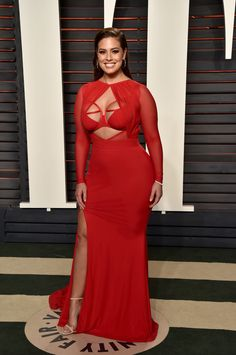 Every 2016 Oscars After-Party Dress You Need to See via @WhoWhatWear | On Ashley Graham: Bao Tranchi dress; Tom Ford heels, Mimi So jewels.