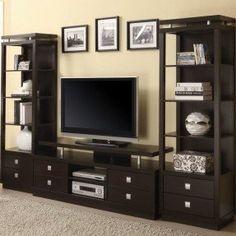 Entertainment Center Bookshelves - Foter