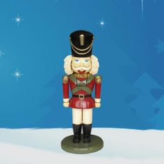 "Nutcracker Soldier 32.25"" H $199.00 Small Nutcracker. Ideal size for indoor display, under Christmas Tree or in front hall..."