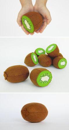 Baby toys Kiwi whole and half Stuffed plush toys Eco by MyFruit