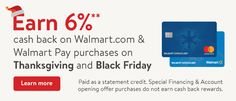 Walmart Credit Card special offer for Black Friday