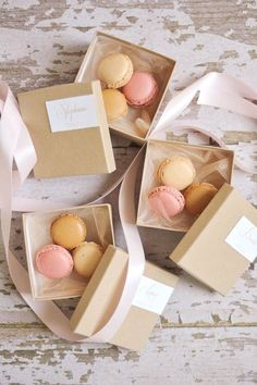 Perhaps you want to provide a decadent treat to your guests. Macarons are perfect for the job!