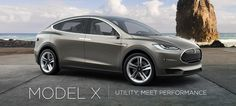 Model X is designed from the ground up to blend the best of an SUV with the benefits of a minivan, as only an electric car can. It is an automobile above category, built around the driver. It artfully provides unfettered performance and brilliant functionality. DELIVERIES BEGIN 2014