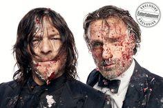 Elenco de The Walking Dead faz ensaio fotográfico comemorativo do 100º episódio