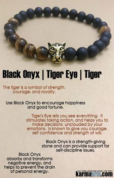 #BEADED #Yoga #BRACELETS ♛ The #Tigeris reminding you thatpersistenceis what is necessary in order to attain yourgoals. #Eckhart #Tolle #Crystals #Energy #gifts #Handmade #Healing #Kundalini #Law #Attraction #LOA #Love #Mala #Meditation #prayer #Reiki #mindfulness #wisdom #Fashion #birthday #Spiritual #Buddhist #Tony #Robbins #Stacks #Lucky #Fertility #Mens