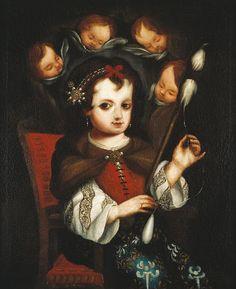 Mary Spinning -  Spanish Colonial Art - Denver Art Museum