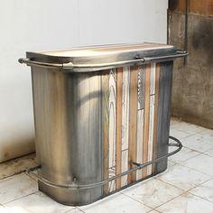 meuble télé en métal et bois. la fabrik m.r | la fabrik m.r ... - Meuble De Bar Design