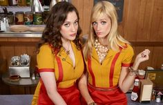 2 Broke Girls. Show plays on Mondays. And when you have a bad Monday it is such a great show to watch. It always makes me laughs and it never fails. Max (to the left) is a waiter and has always lived a rough life. Caroline (to the right) was rich and lost all her money and is now serving food with Max.