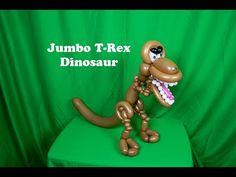 Learn how to make a jumbo T-Rex dinosaur balloon with Stretch Dinosaur Balloons, Animal Balloons, Balloon Crafts, Balloon Ideas, Masquerade Party, Masquerade Masks, Ballon Animals, Animal Hand Puppets, Twisting Balloons