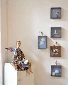 "Studio14_Tallinn on Instagram: ""14-26 September  Exhibition in Berlin ""Фабрика мечты 1.  Антропология в смешанной технике"", Выставка открыта в галерее Виноградов по 26…"" Art Studio Design, Art Dolls, Needlework, Gallery Wall, Arts And Crafts, Home Decor, Embroidery, Dressmaking, Decoration Home"