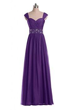 Gorgeous Bride Modisch Traeger Empire Chiffon Lang Kristall Perlen Abendkleid Festkleid Ballkleid -36 Lila Gorgeous Bride http://www.amazon.de/dp/B00RRFHKHM/ref=cm_sw_r_pi_dp_ziLlvb07DSDY9