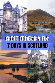 7 days in Scotland - the itinerary Planning a trip to Scotland for 7 days? Check my suggested itinerary for 7 days in Scotland including Scottish Highlands, Loch Ness, Edinburgh & more. Europe Destinations, Europe Travel Guide, Travel Guides, Travel Hacks, Holiday Destinations, Scotland Travel, Ireland Travel, Italy Travel, France