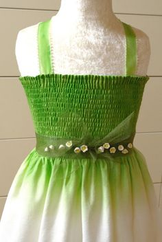 Lily of the valley dress costume spring fairy custom by OuiOui77, $65.00
